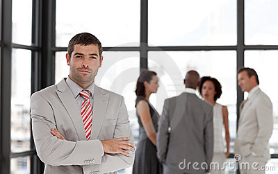 Senior Business Man with arms folded