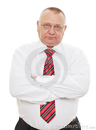 Senior business man with crossed arms