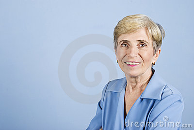 Senior business woman smiling