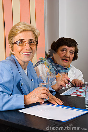 Free Senior Business Women At Meeting Royalty Free Stock Image - 14730296