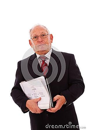 Senior businessman call