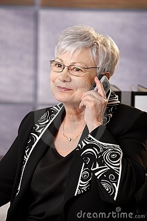 Senior businesswoman on phone call