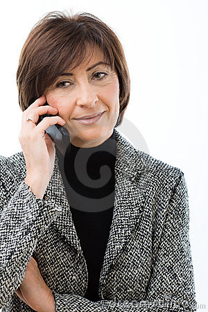 Senior businesswoman talking on mobile