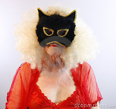 Senior in Cat Mask