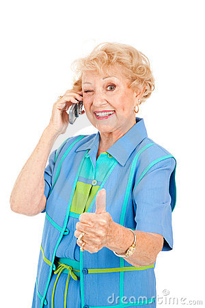 Senior Cellphone User - Good Reception