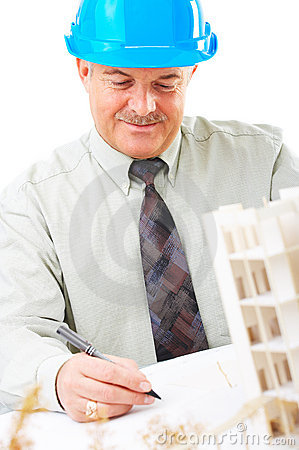 Senior construction worker