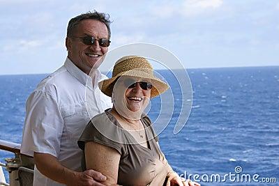 Senior couple on cruise