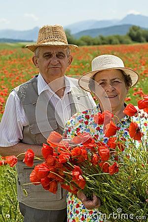 Senior couple enjoying summer