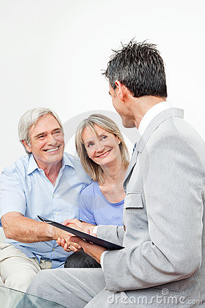 Senior couple with financial