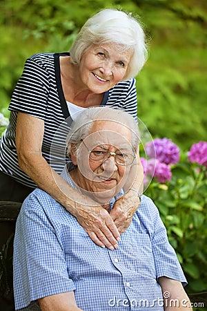 Free Senior Couple Happy Royalty Free Stock Images - 24910949