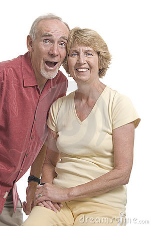 Senior couple having fun