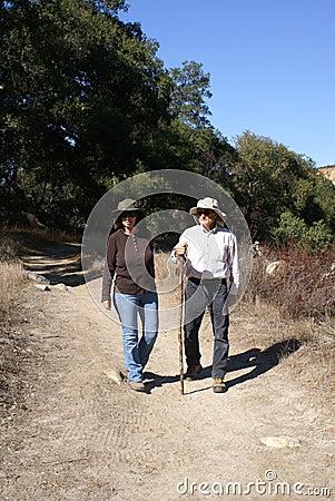 Senior Couple Hiking/Walking