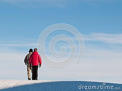 Senior couple on hill