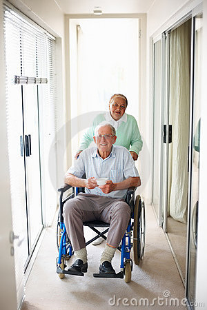 Senior couple at a hospital