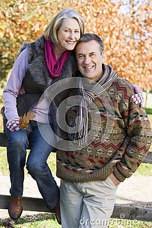 Free Senior Couple On Autumn Walk Royalty Free Stock Images - 5305949