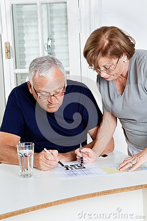 Senior Couple Playing Leisure Games