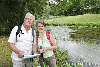 Senior couple on a rambling day