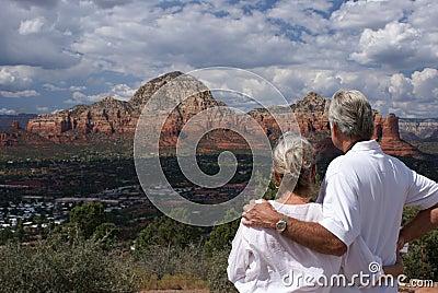 Senior couple in Sedona