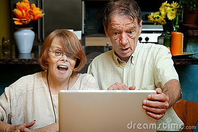 Senior couple shocked at the content on their comp