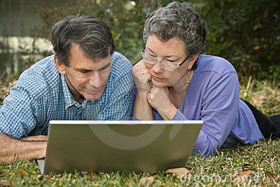 Senior Couple Surfing the Web