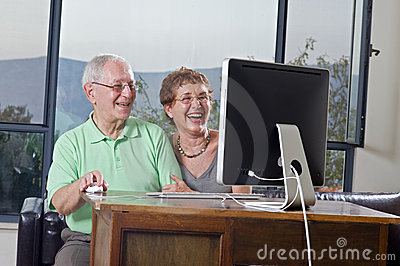 Senior Couple Using  Computer Royalty Free Stock Photo - Image: 6361375