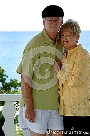 Senior couple vacation portrait