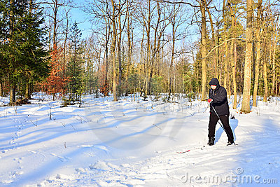 Senior cross-country skiing