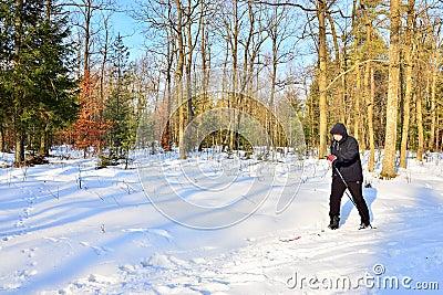 Senior cross-country skiing