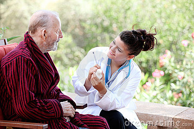 Senior with doctor