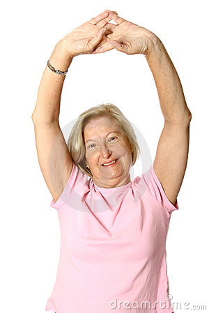 Free Senior Doing Her Stretches Stock Images - 2450224