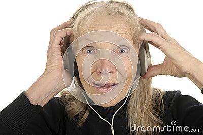 Senior Enjoys Music