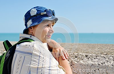 Senior female tourist
