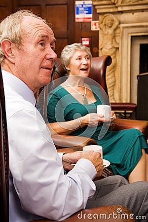 Free Senior Friends Enjoying Tea Stock Photos - 12059653