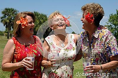 Senior friends laughing
