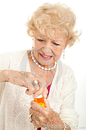 Free Senior Frustrated With Prescription Cap Royalty Free Stock Photography - 22904217