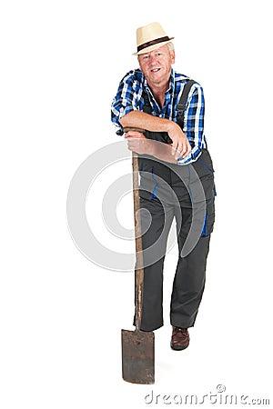 Senior gardener