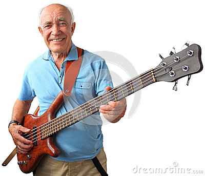 Senior guitar man