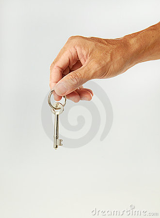 Senior Hand Holding Key