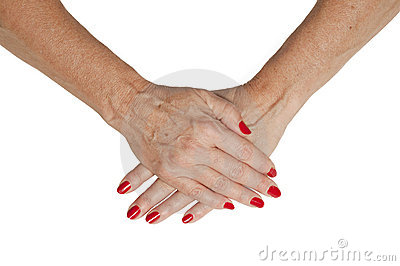 Isolated Senior Hands