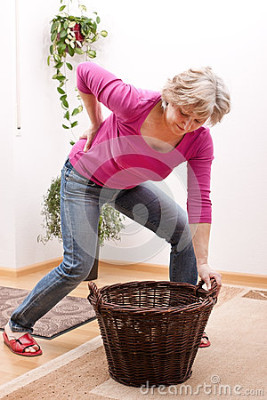 Free Senior Has Back Pain Due To Heavy Load Stock Photography - 30559912