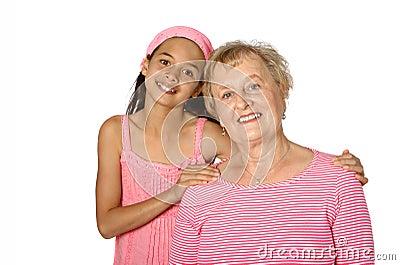 Senior with her grandaughter