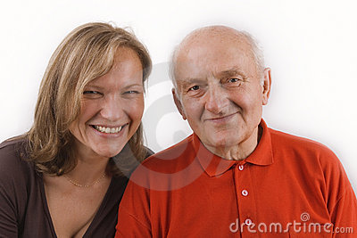 Senior and his daughter