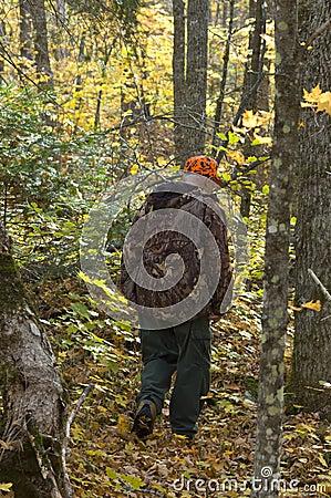 Senior hunter on the deer track
