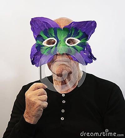 Free Senior In Mask Royalty Free Stock Photos - 8798828