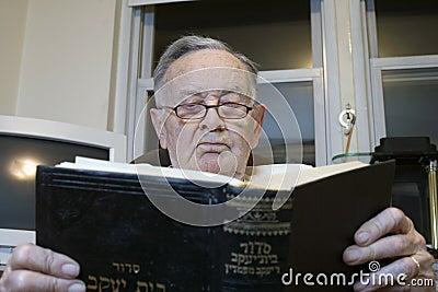 Senior with Jewish Prayer Book