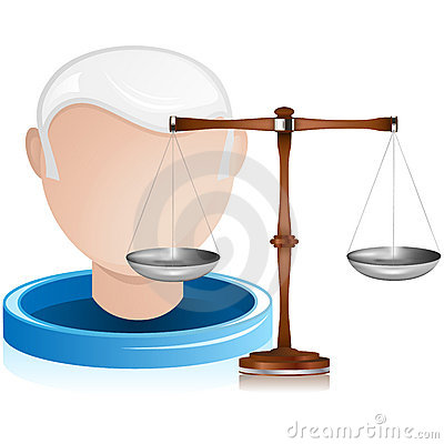 Senior Judge with Justice Balance