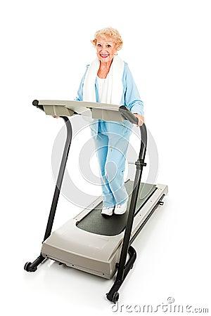 Senior Lady on Treadmill