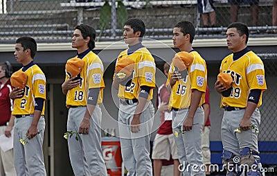 Senior league baseball world series 2011 anthem Editorial Photo