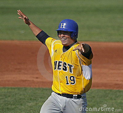 Senior league baseball world series 2011 celebrate Editorial Stock Image