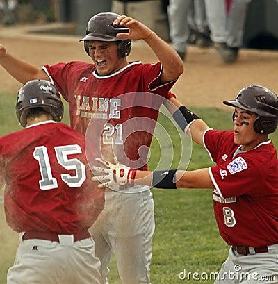 Senior league baseball world series celebrate Editorial Stock Photo